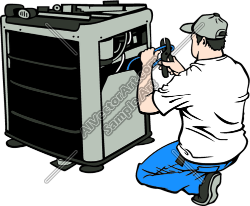 Air Conditioner Repair Clipart.