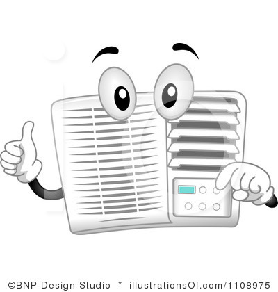 Air Conditioner Thermostat Clipart.