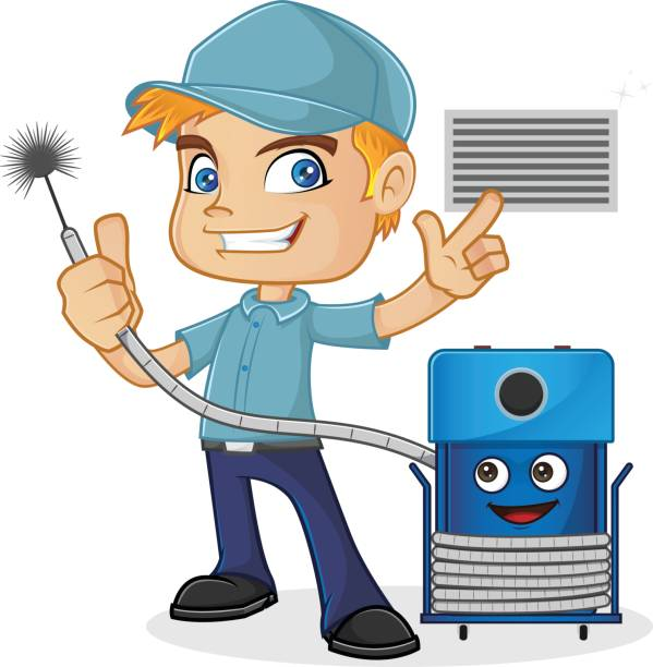 Air Duct Cleaning Clipart.