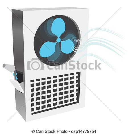 Clipart Vector of Evaporative Air Cooler.