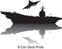 Naval Aircraft Carrier Clip Art.
