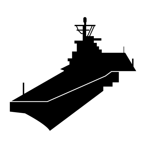 Aircraft Carrier Silhouette Clipart.
