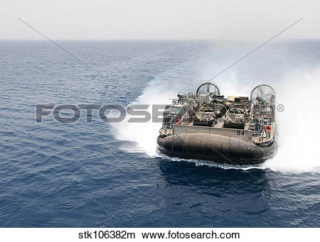 Stock Photo of A landing craft air cushion transits the Gulf of.