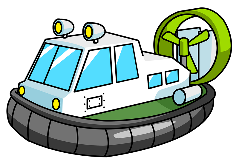 Clipartlord Com Exclusive A Hovercraft Also Known As An Air.