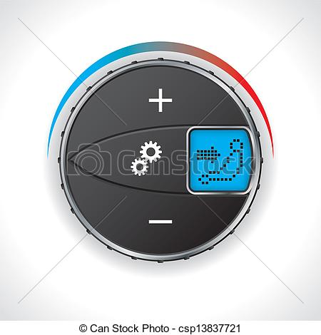 Vector Illustration of Air conditioning gauge with led display.