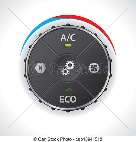 Vector Clip Art of Air conditioning gauge without led display.