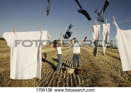 Pictures of Laundry getting air dried 1795138.