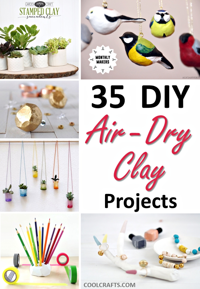 7 Beautiful Projects You Can Easily Make Out of White Air Dry Clay.