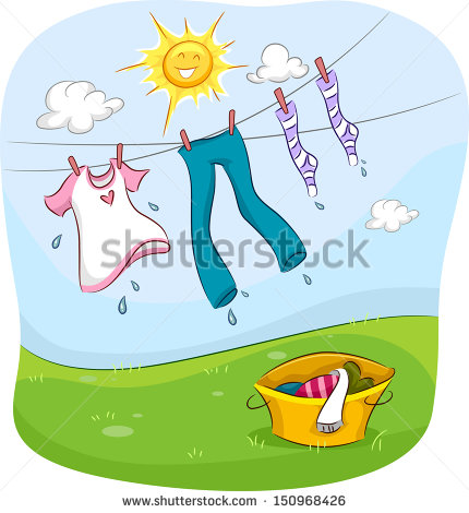 Drying Clothes Stock Vectors, Images & Vector Art.