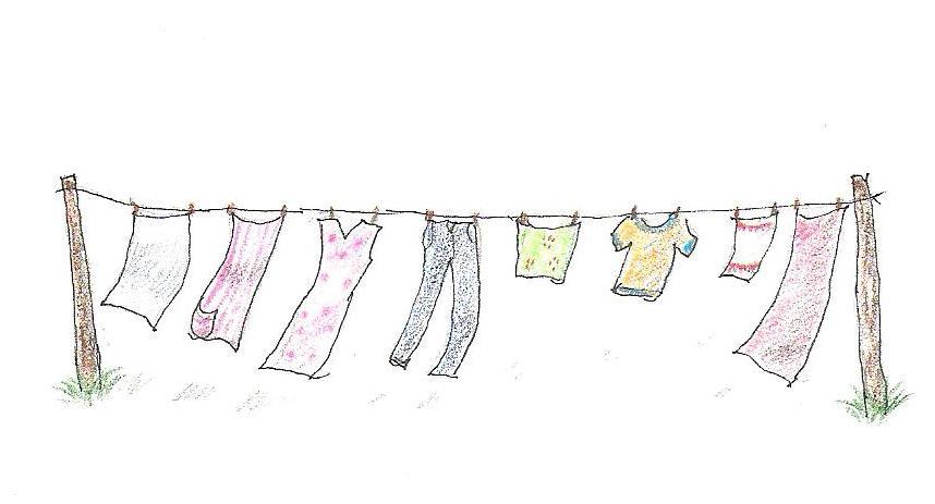 Laundry Line Clipart.