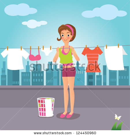 Drying Clothes Stock Vectors, Images & Vector Art.
