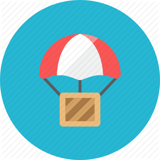Airdrop, box icon.