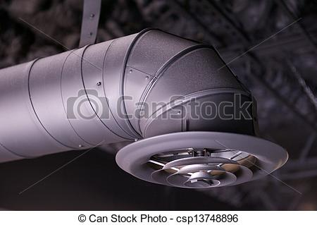 Stock Photographs of Industrial Air Duct and Vent.