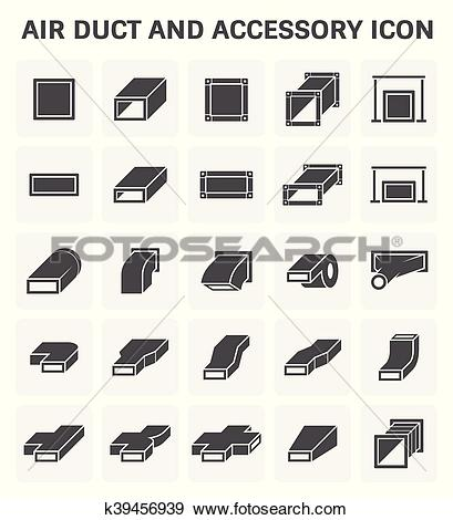 Clip Art of Air Duct Icon k39456939.