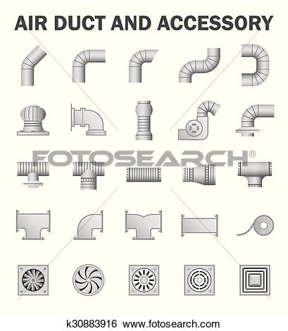 Clip Art of Air duct k30883916.