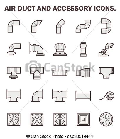 EPS Vector of Air duct icon.