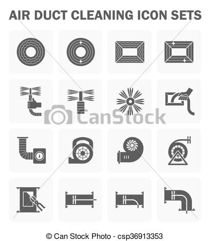 Clipart Vector of Duct clean icon.