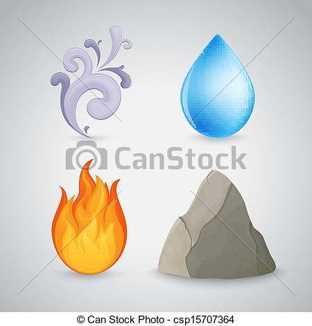 Clip Art Vector of Four element.