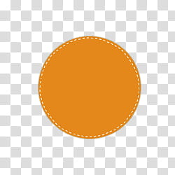 Circles with dashed, round orange transparent background PNG.