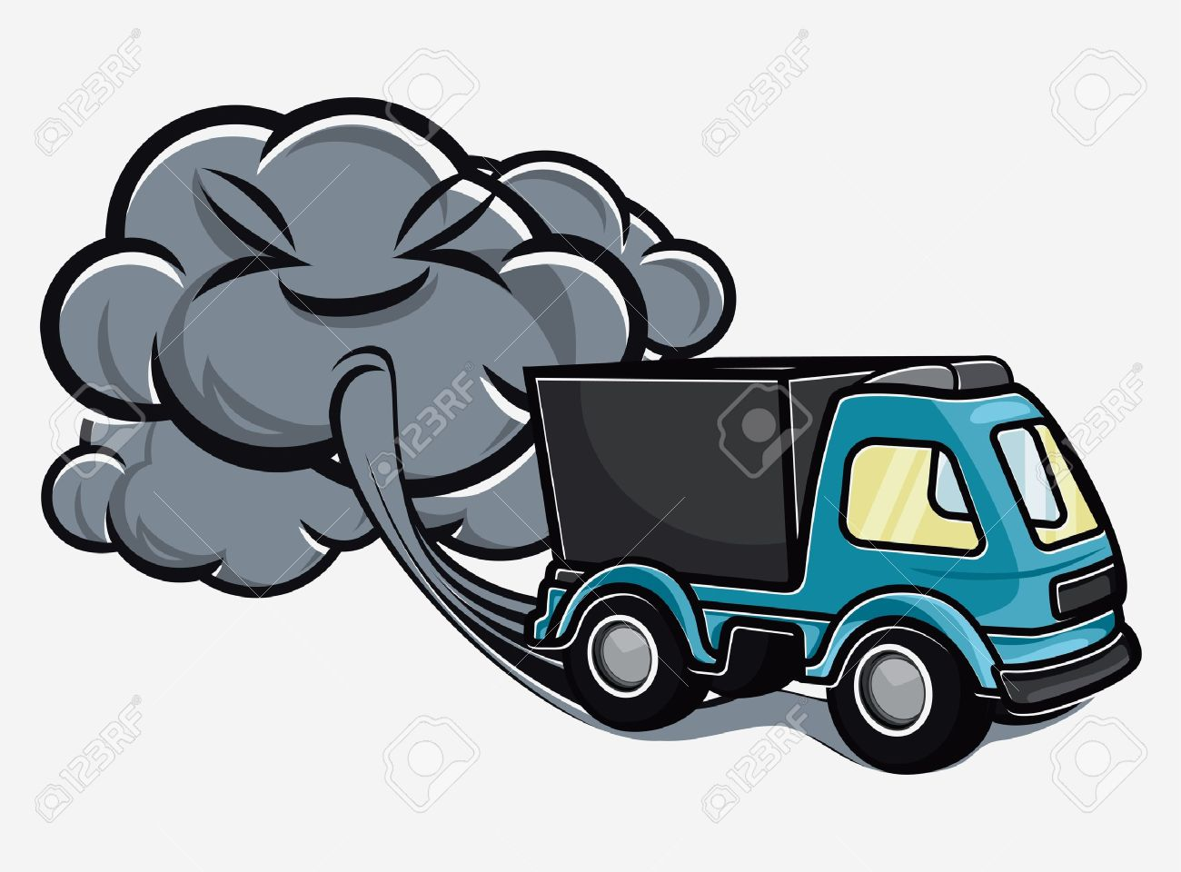 Air Exhaust Clipart on Car Pipe Exhaust Fumes