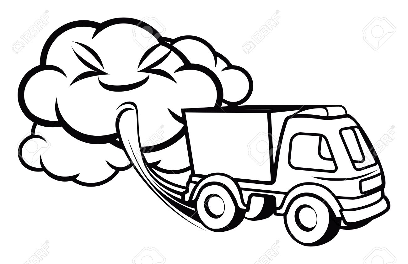 Truck Exhaust Royalty Free Cliparts, Vectors, And Stock.