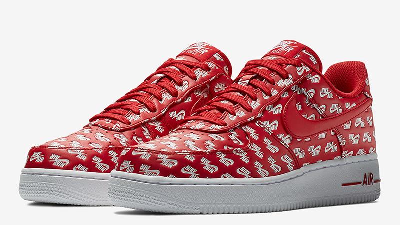 Nike Air Force 1 Low Logos Pack Red.