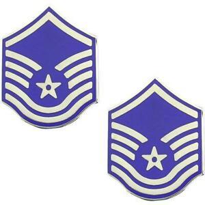 Details about GENUINE U.S. AIR FORCE USAF METAL CHEVRON: MASTER SERGEANT.