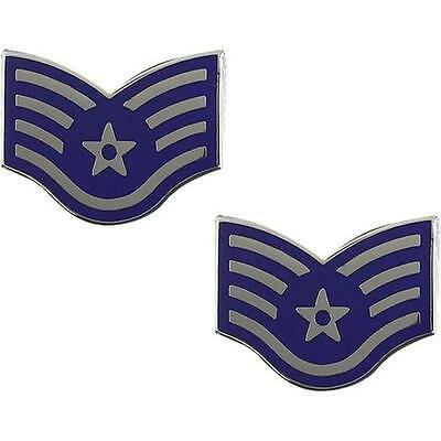 USAF AIR FORCE Metal Chevron Staff Sergeant (Made in USA.