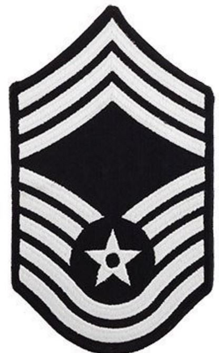 AIR FORCE EMBROIDERED CHEVRON: CHIEF MASTER SERGEANT.