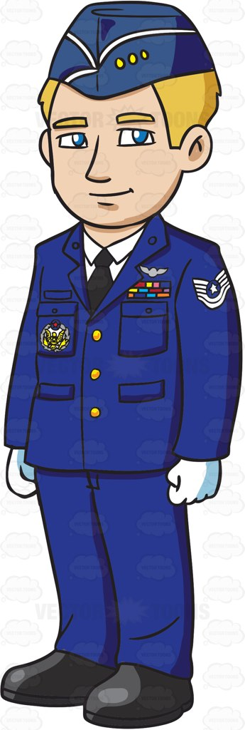 Air force man clipart.