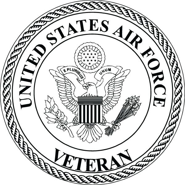 US Air Force Veteran Insignia Clip Art For Military Gifts.