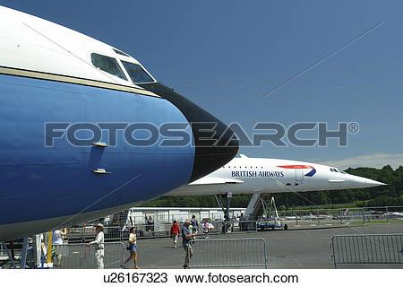 Stock Photo of Seattle, WA, Washington, Museum of Flight, Boeing.