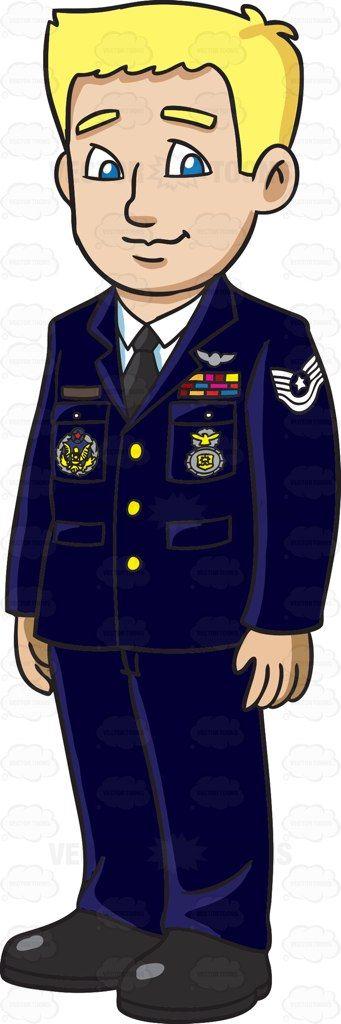 Air Force Man Clipart.