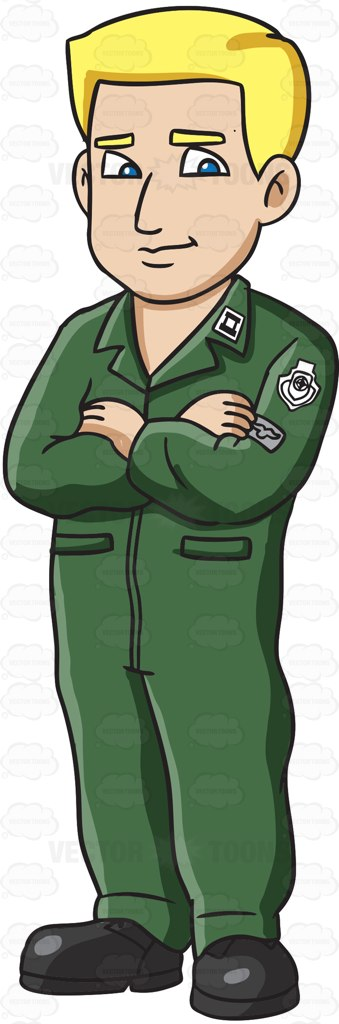 A Blonde Air Force Pilot Dressed In A Green Flight Suit.