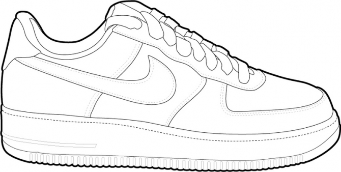 Nike air force 1 clipart.