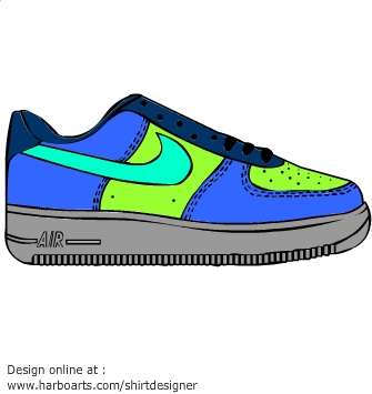 Nike air force clipart.
