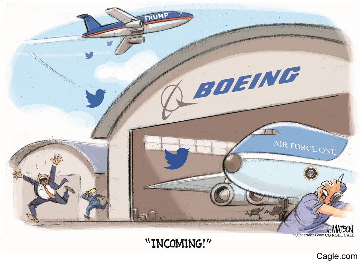 Trump Tweets Boeing Over Air Force One.