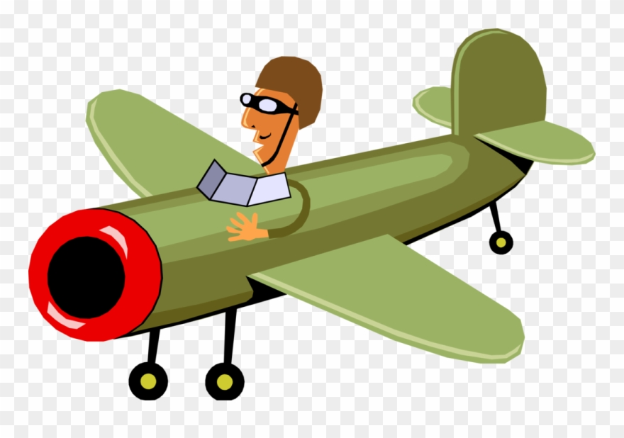 Airforce Pilot In Flight Clipart Transparent Stock.