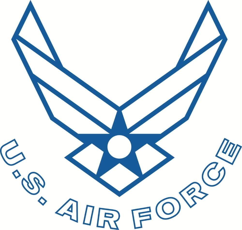 US Air Force logo tattoo.