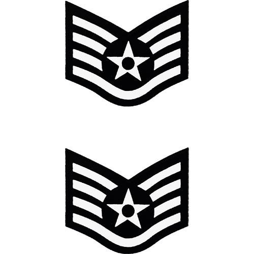 Air Force Enlisted Rank Sticker 2 pc..