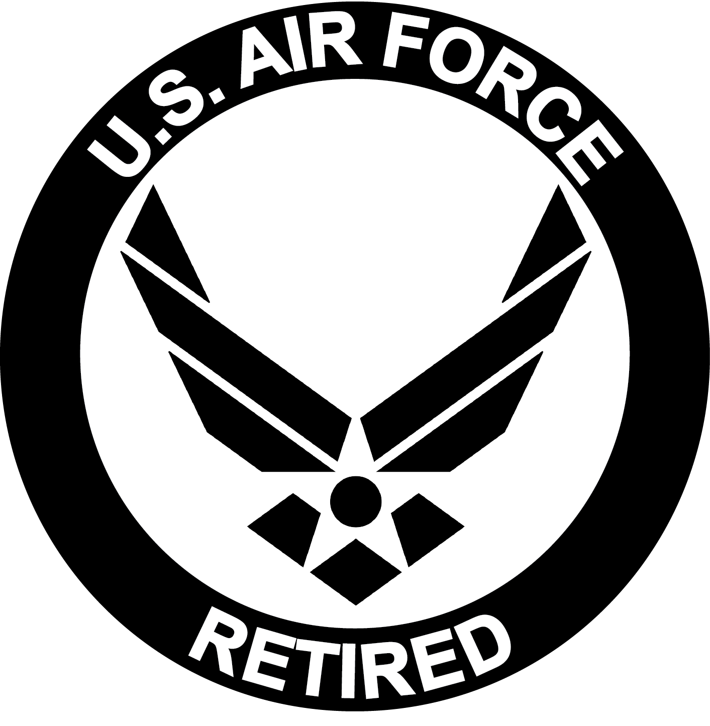 United States Air Force Symbol Logo Decal.