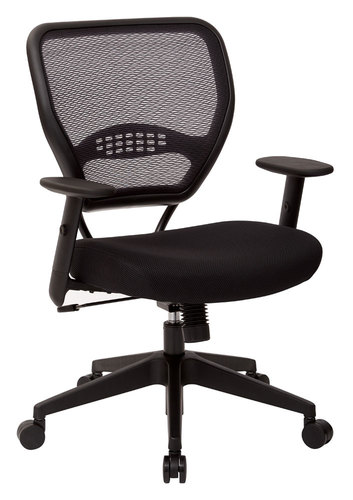 Office Star AirGrid® Back Managers Chair with Mesh Fabric Seat.