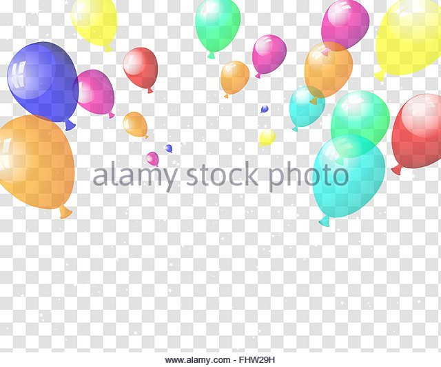 Bunch Transparent Balloons Flying In Stock Photos & Bunch.