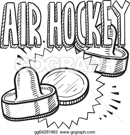 Air Hockey Clip Art.