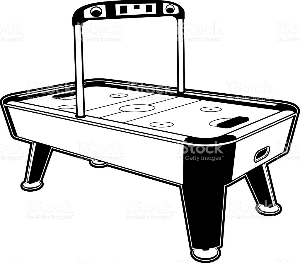 Air Hockey Table stock vector art 134039110.