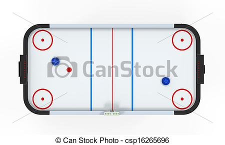 Stock Illustration of Air Hockey Table Isolated.