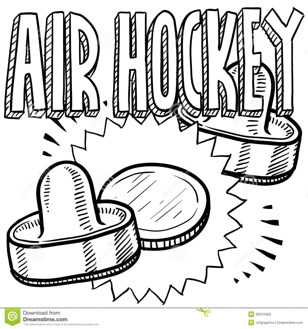 Air Hockey Game Clipart.