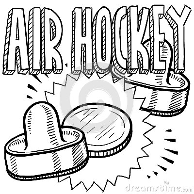 Air hockey clipart.