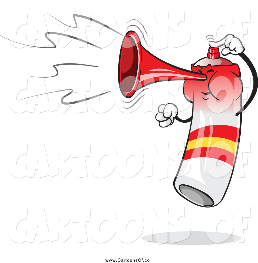 Vector Illustration of a Spain Flag Air Horn Blowing and.