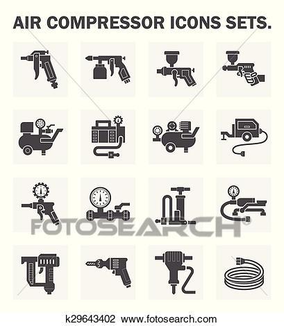 Air compressor icon Clipart.